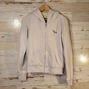 Victoria's Secret WARM sequin full zip hoodie